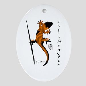 """""""Salamander"""" Oval Ornament"""