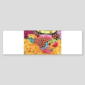 Floral fish Bumper Sticker