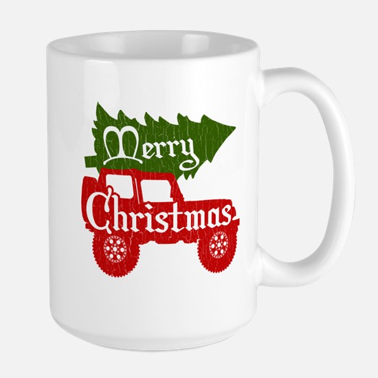 Merry Christmas 4x4 (vintage look) Mugs
