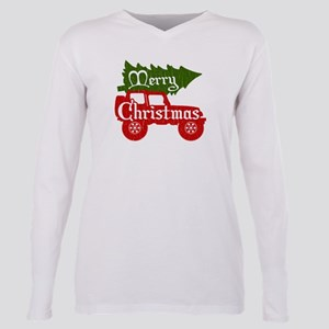 Merry Christmas 4x4 (vintage look) Plus Size Long
