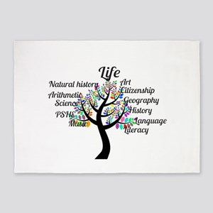 Colorful Life Tree 5'x7'Area Rug