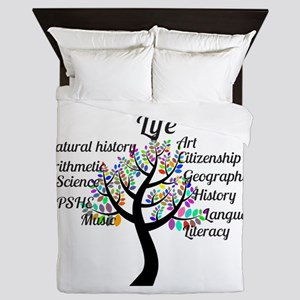 Colorful Life Tree Queen Duvet
