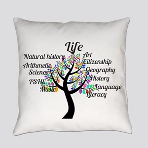 Colorful Life Tree Everyday Pillow