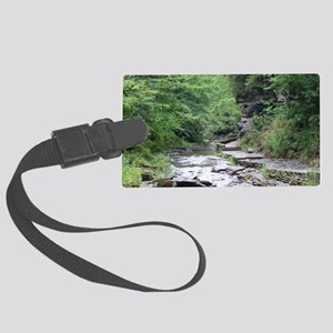forest river scenery Large Luggage Tag