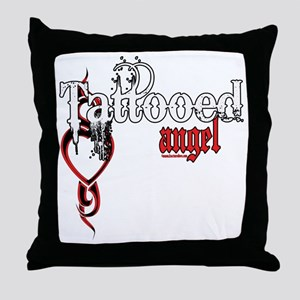 Tattooed Angel Throw Pillow