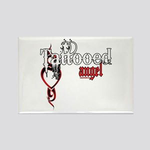 Tattooed Angel Rectangle Magnet