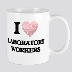 I love Laboratory Workers (Heart made from wo Mugs