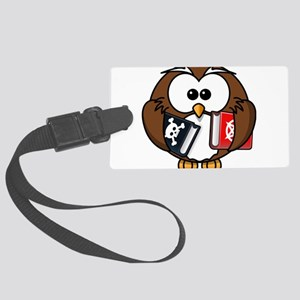 Studious Owl Large Luggage Tag