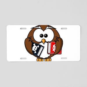 Studious Owl Aluminum License Plate