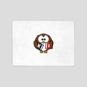 Studious Owl 5'x7'Area Rug