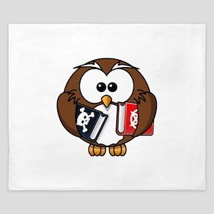 Studious Owl King Duvet