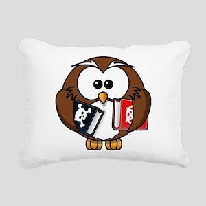 Studious Owl Rectangular Canvas Pillow