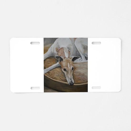 Cool Greyhound Aluminum License Plate