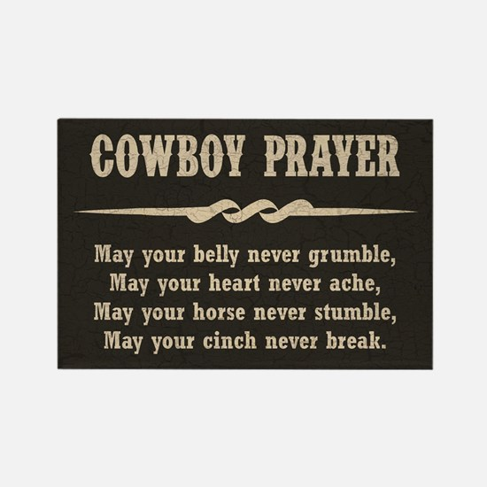 COWBOY PRAYER Rectangle Magnet