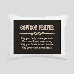 COWBOY PRAYER Rectangular Canvas Pillow