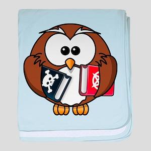 Studious Owl baby blanket