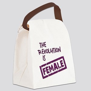 THE REVOLUTION IS... Canvas Lunch Bag