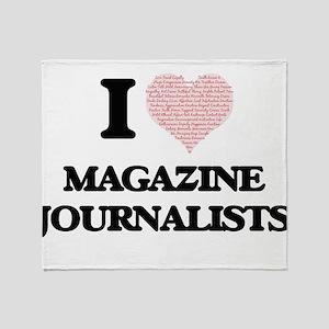 I love Magazine Journalists (Heart m Throw Blanket