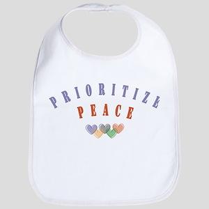 Prioritize Peace 1 Bib