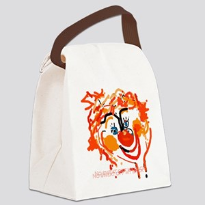 Silly Clown Canvas Lunch Bag