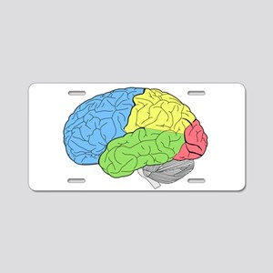Primary Brain Aluminum License Plate