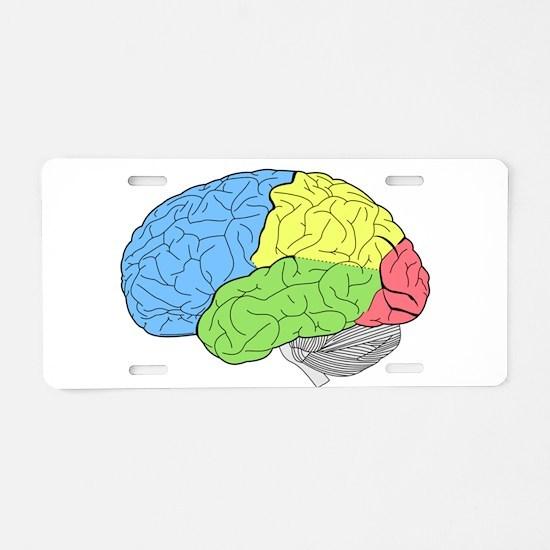 Primary Brain Aluminum License Plate