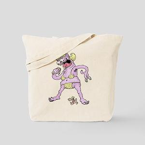 Purple Yellow Bikini Tote Bag