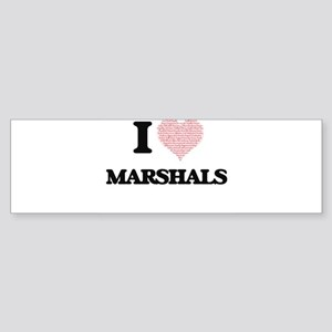 I love Marshals (Heart made from wo Bumper Sticker