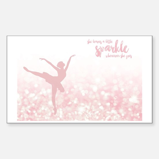 Funny Ballet dance Sticker (Rectangle)