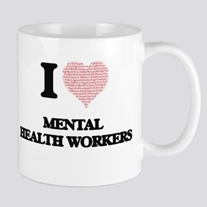 I love Mental Health Workers (Heart made from Mugs