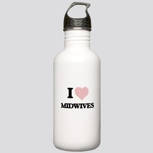 I love Midwives (Heart Stainless Water Bottle 1.0L