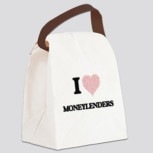 I love Moneylenders (Heart made f Canvas Lunch Bag