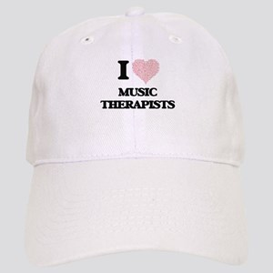 I love Music Therapists (Heart made from words Cap
