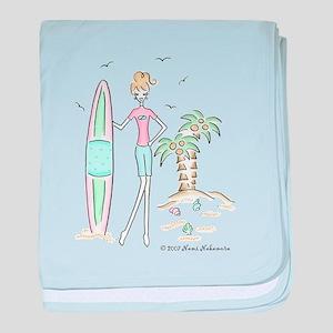 surfergirl baby blanket