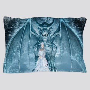 Ice Queen and Dragon Pillow Case