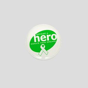 Organ Donor Hero Mini Button