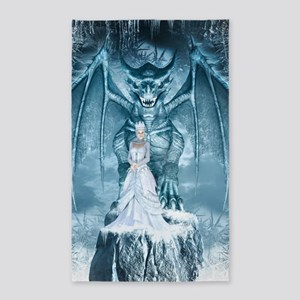 Ice Queen And Dragon Area Rug