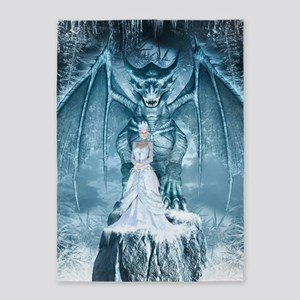 Ice Queen and Dragon 5'x7'Area Rug