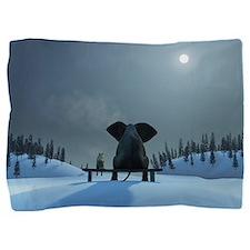 Dog And Elephant Friends Pillow Sham
