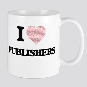 I love Publishers (Heart made from words) Mugs