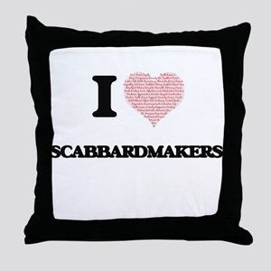 I love Scabbardmakers (Heart made fro Throw Pillow