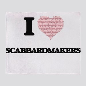 I love Scabbardmakers (Heart made fr Throw Blanket