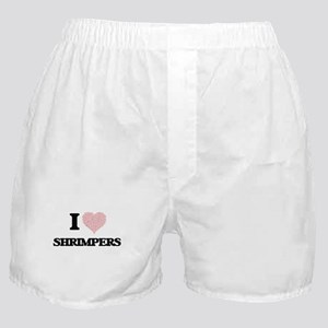 I love Shrimpers (Heart made from wor Boxer Shorts