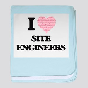 I love Site Engineers (Heart made fro baby blanket