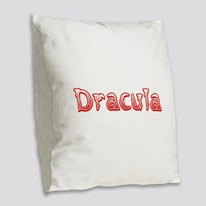 Dracula Burlap Throw Pillow