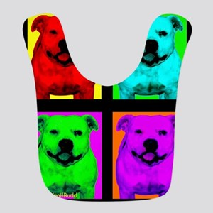 Pitt Bull Pup Art Bib