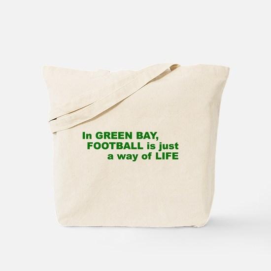 Football Green Bay Tote Bag