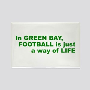 Football Green Bay Rectangle Magnet