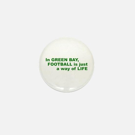 Football Green Bay Mini Button