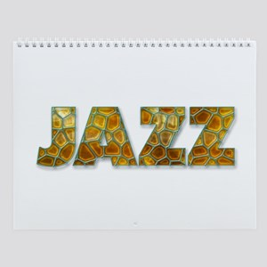 Amber Glass Jazz Wall Calendar